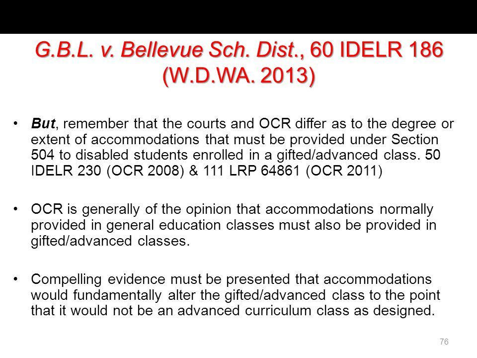 Bellevue Sch. Dist., 60 IDELR 186 (W.D.WA.