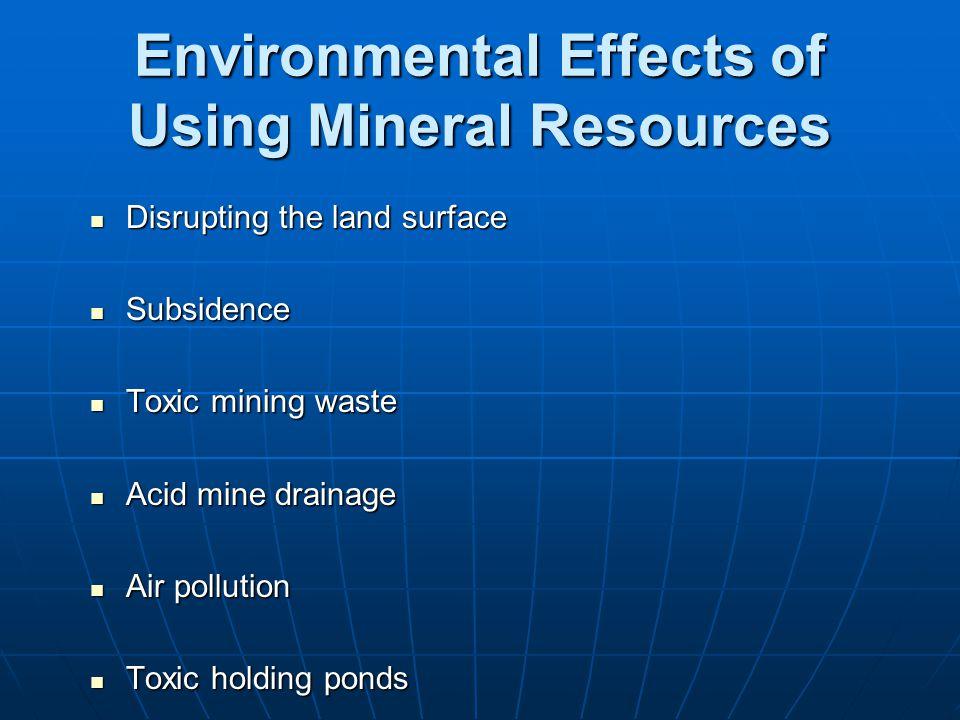 effects of acid mine drainage