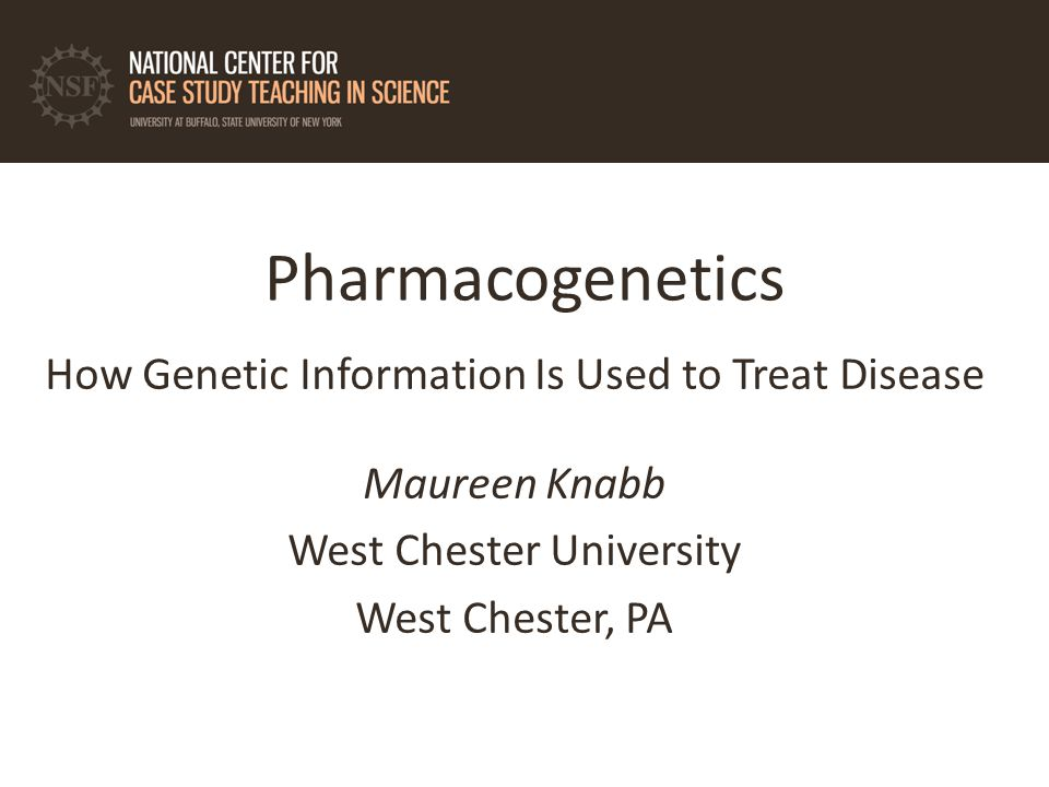 pharmacogenomics case study buffalo