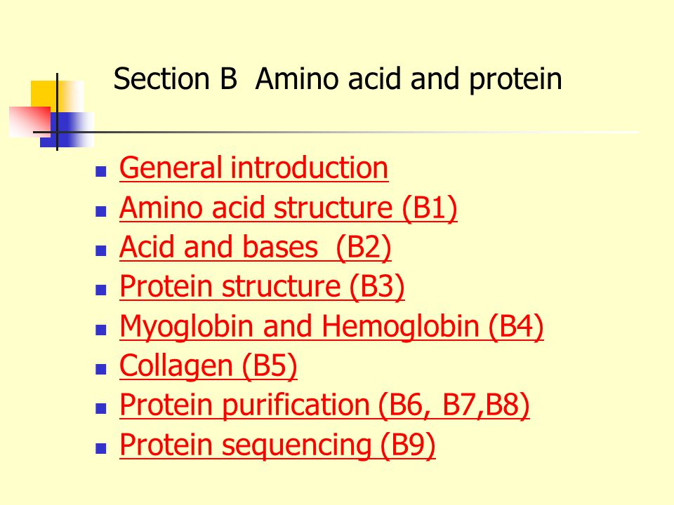 Section B Amino acid and protein - ppt download