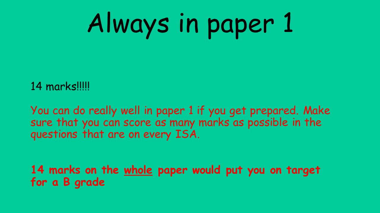 aqa exam style question