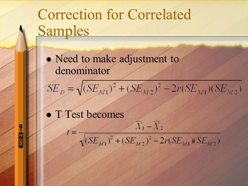 Correction for Correlated Samples