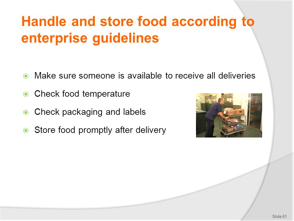 What Food Should Be Stored First After Delivery