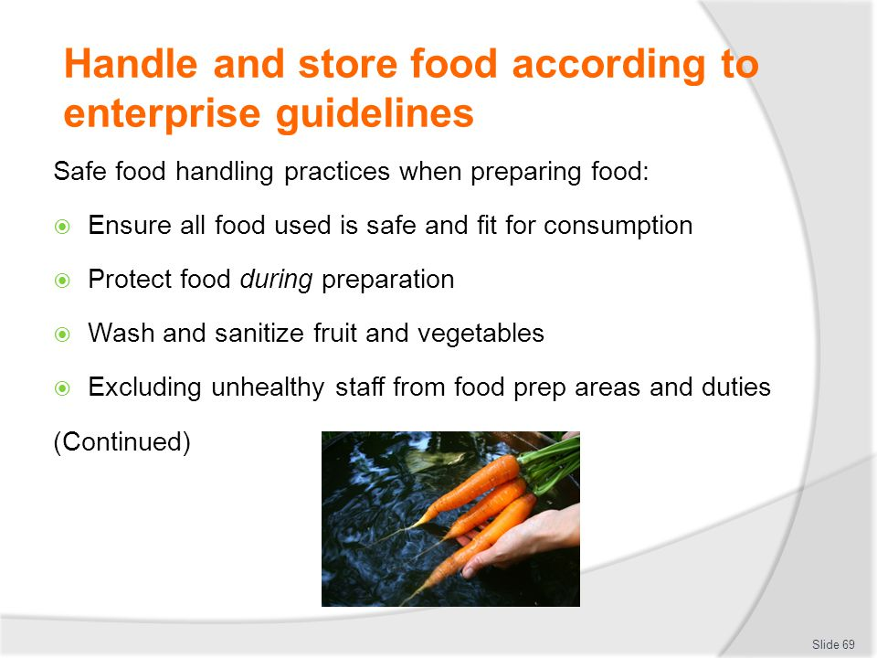 ready to eat foods microbiological guidelines