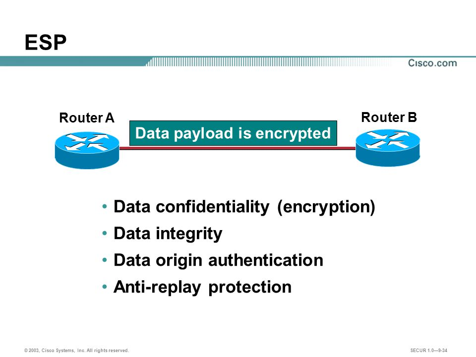 Data payload is encrypted