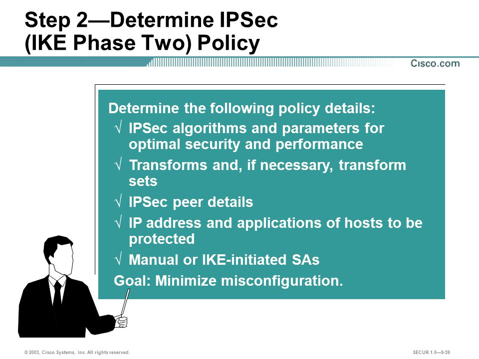 Step 2—Determine IPSec (IKE Phase Two) Policy