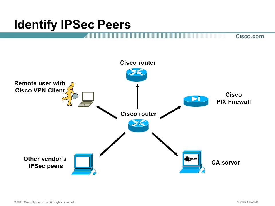 Other vendor's IPSec peers