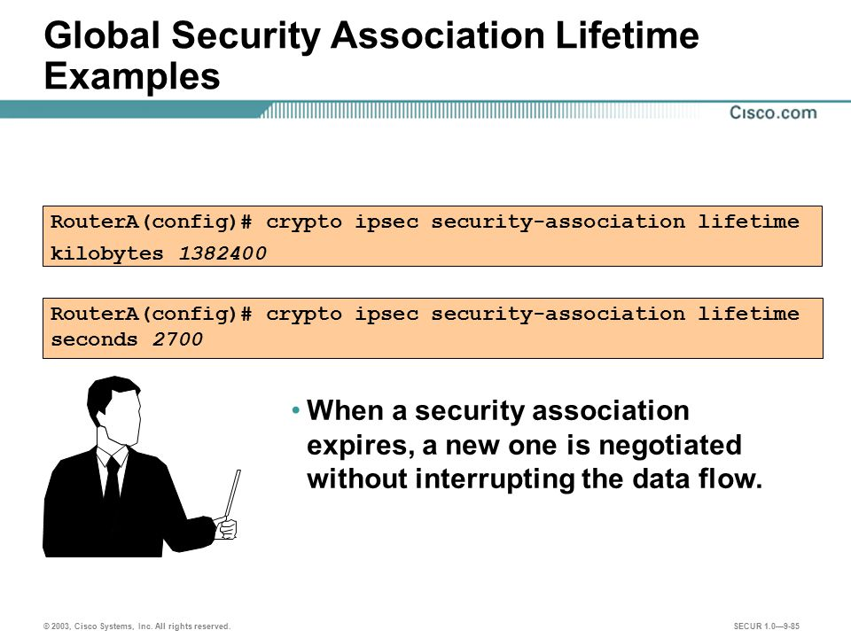 Global Security Association Lifetime Examples