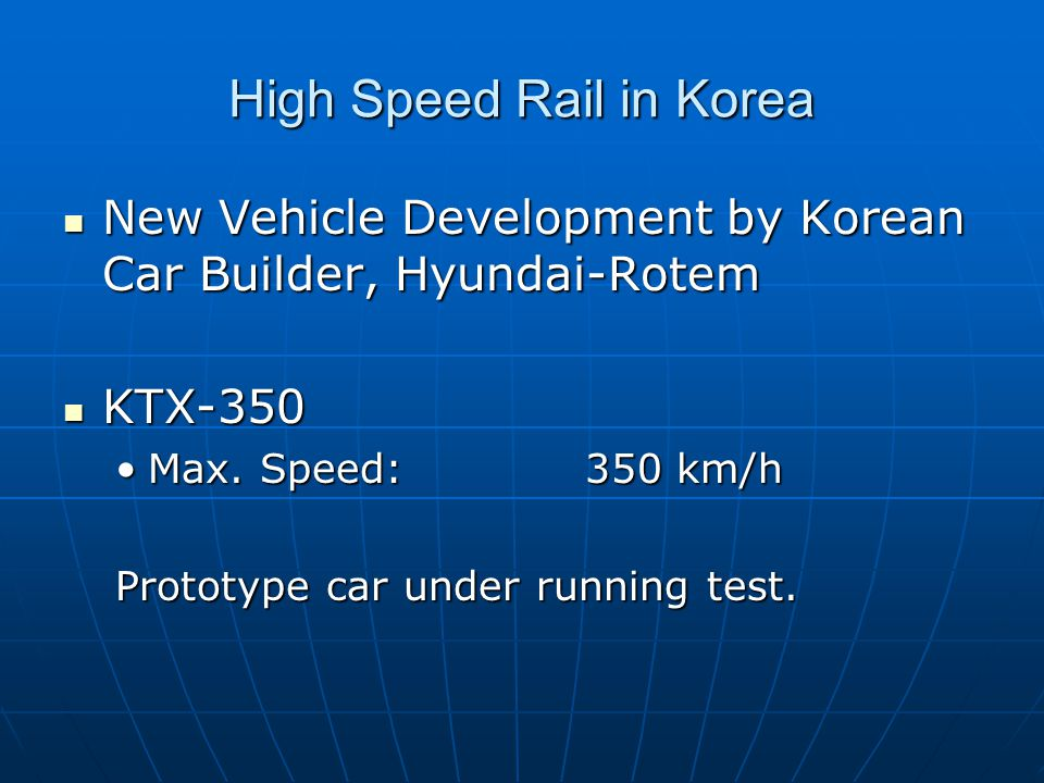 KORAIL orders 30 new high-speed trains from Hyundai Rotem