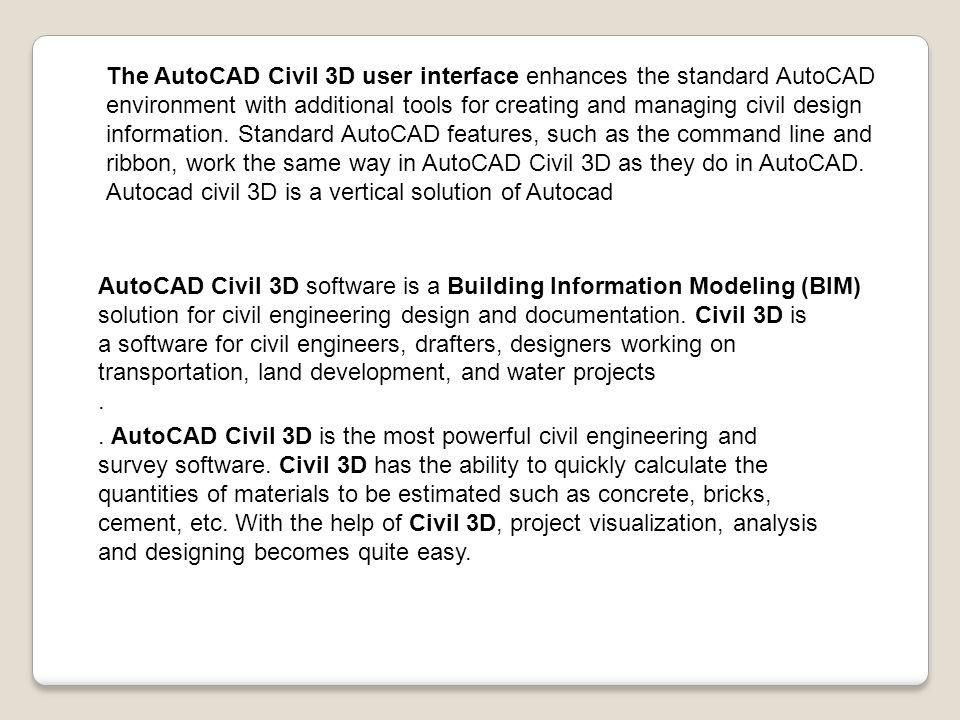 autocad civil 3d commands pdf