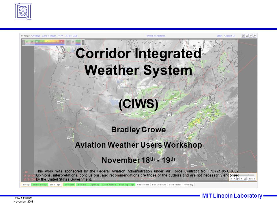 Corridor Integrated Weather System Aviation Weather Users Workshop