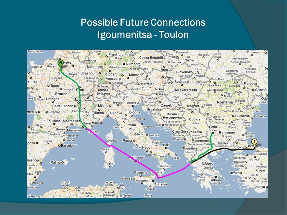Possible Future Connections Igoumenitsa - Toulon