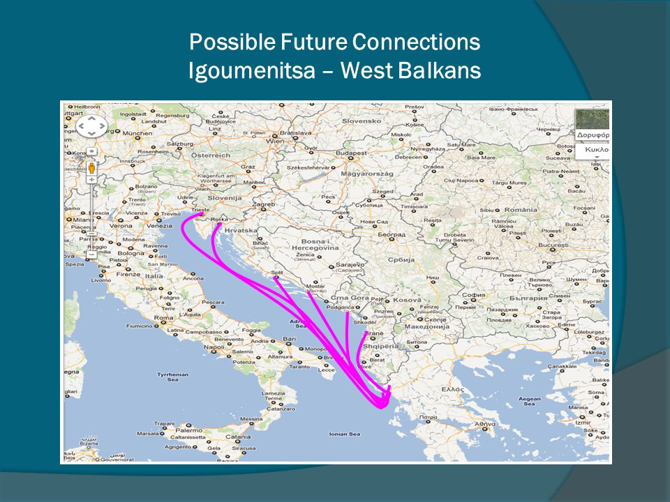 Possible Future Connections Igoumenitsa – West Balkans