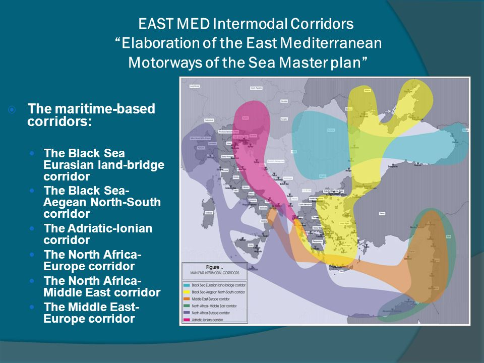 EAST MED Intermodal Corridors Elaboration of the East Mediterranean