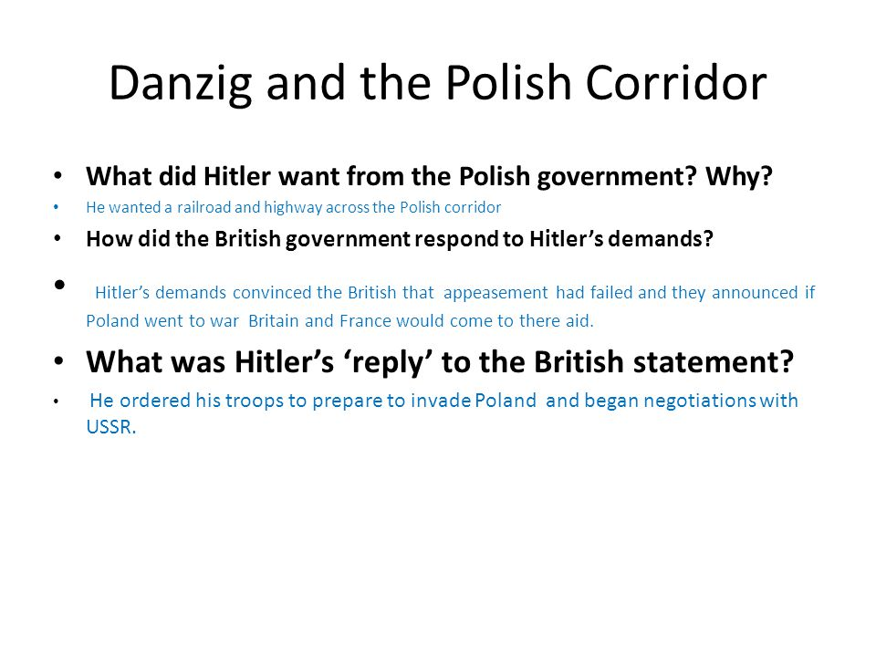 Danzig and the Polish Corridor