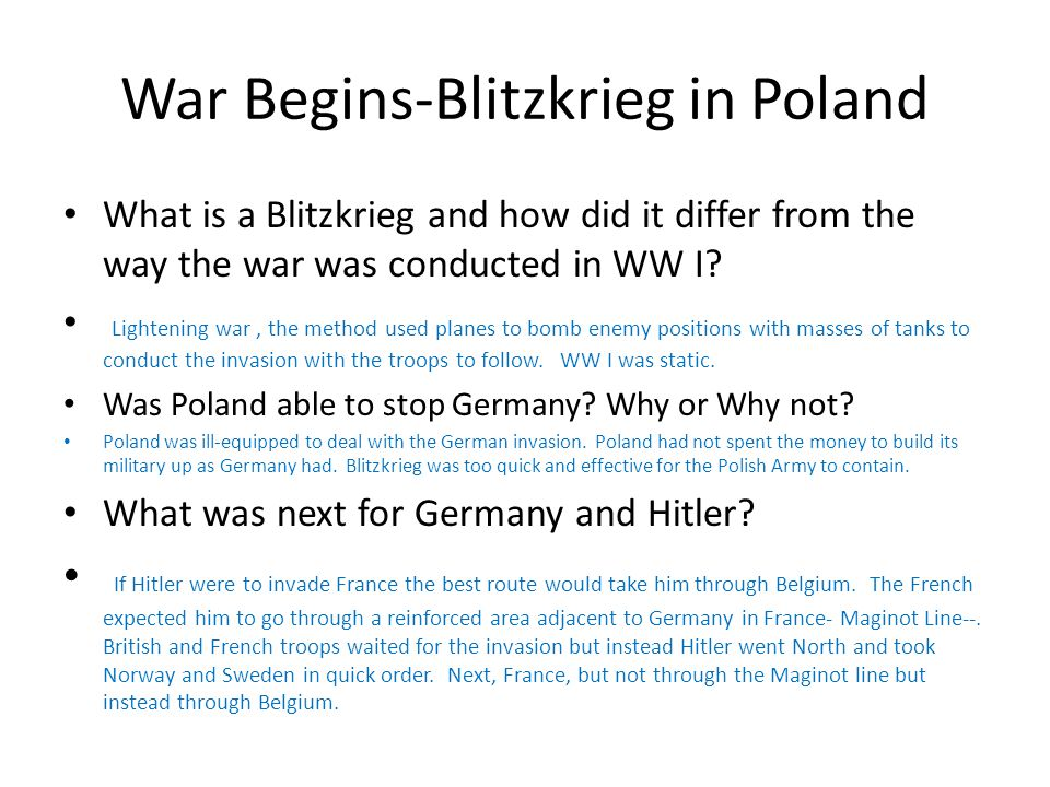 War Begins-Blitzkrieg in Poland