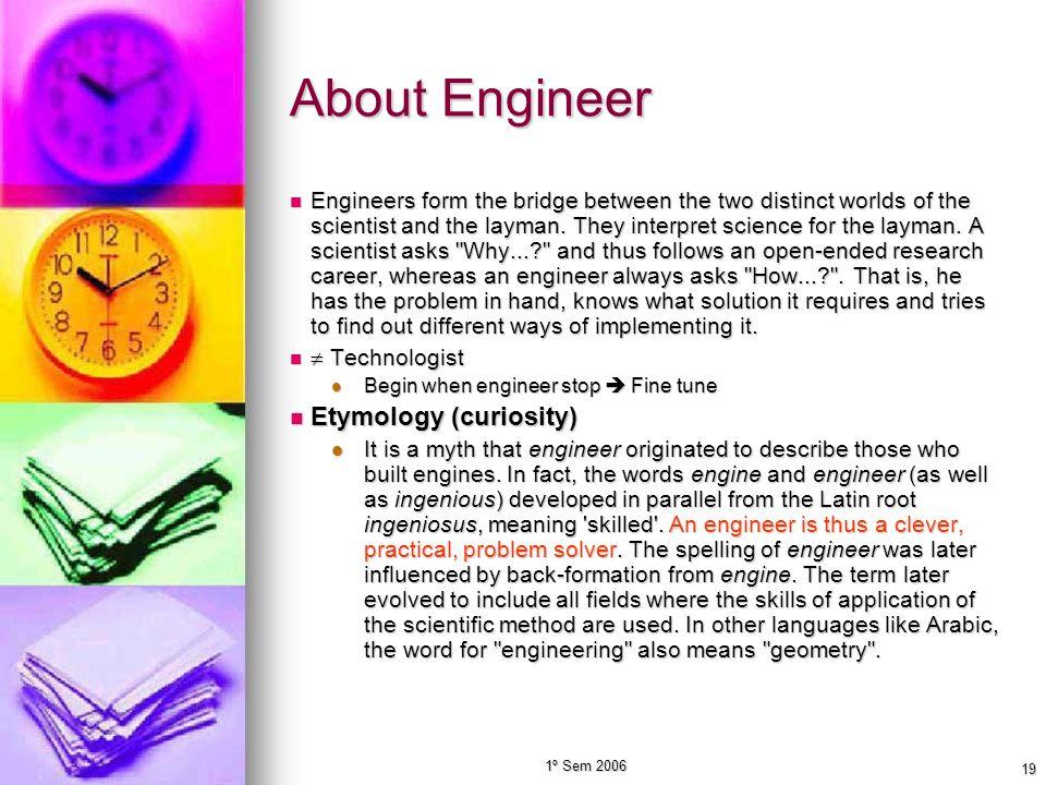About Engineer Etymology (curiosity)