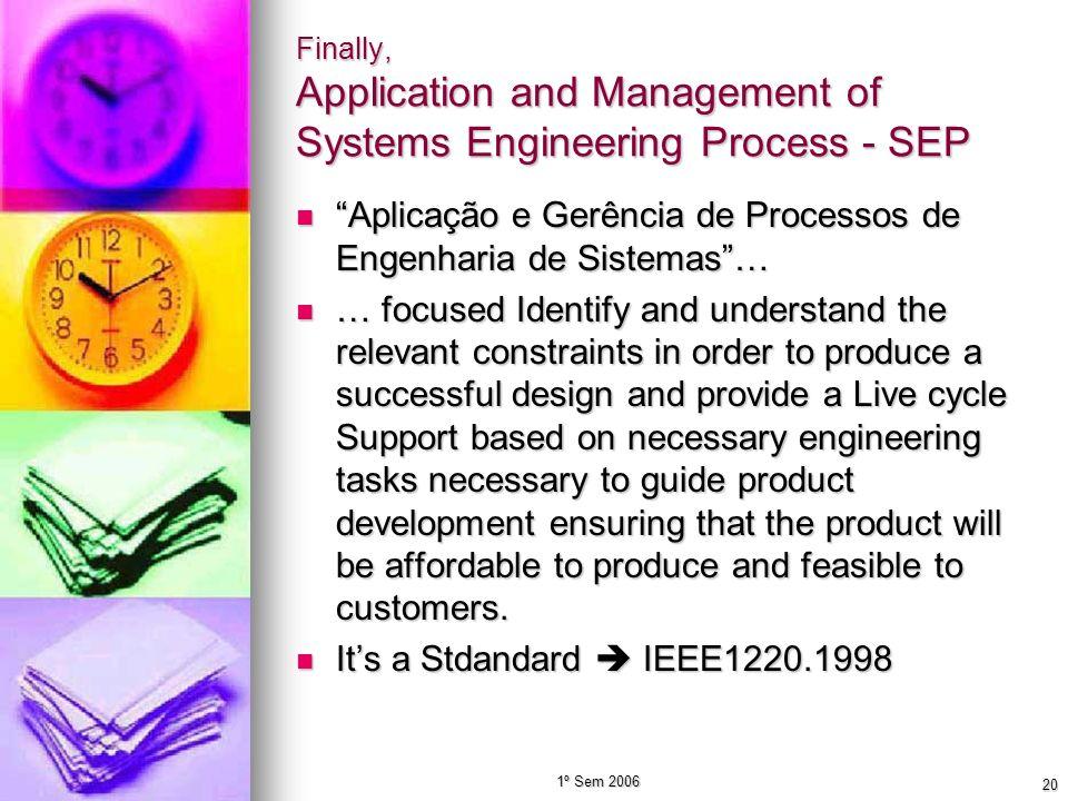 Aplicação e Gerência de Processos de Engenharia de Sistemas …