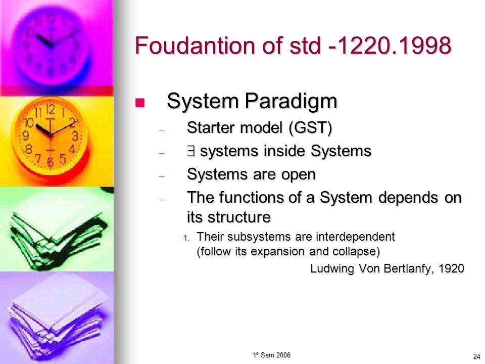 Foudantion of std -1220.1998 System Paradigm Starter model (GST)