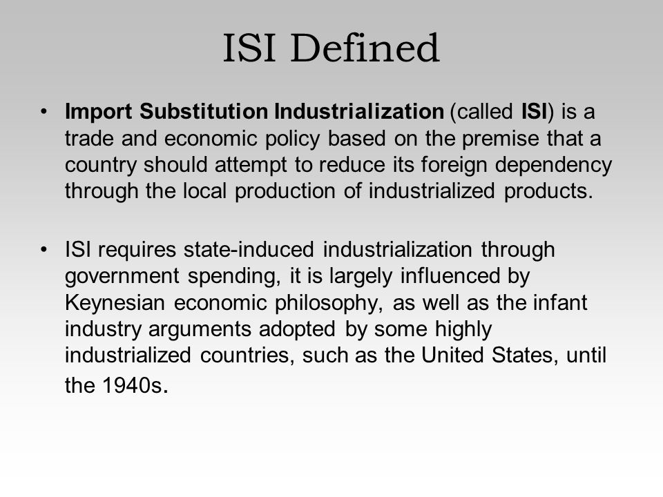 Import Substitution and Export Promotion | Economics