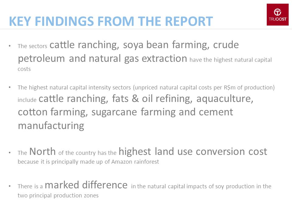Key findings from the report