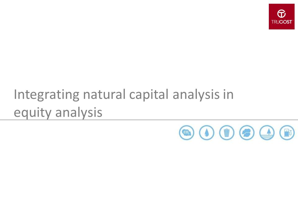 Integrating natural capital analysis in equity analysis