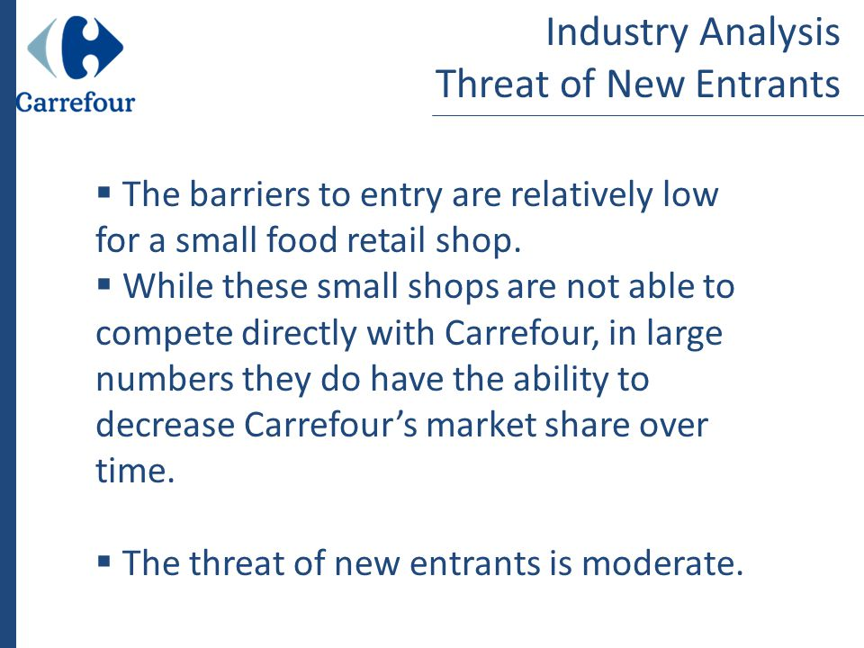 threat of entry the wine industry Porter's 5 forces analysis home: articles a return on investment that was better than the average for the industry sector the threat of entry.