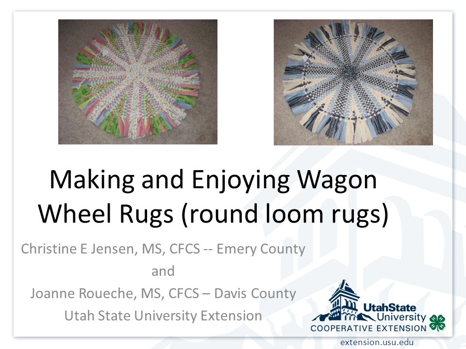 Making And Enjoying Wagon Wheel Rugs Round Loom