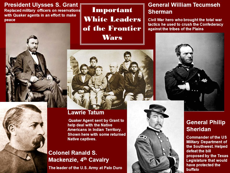 Important White Leaders of the Frontier Wars
