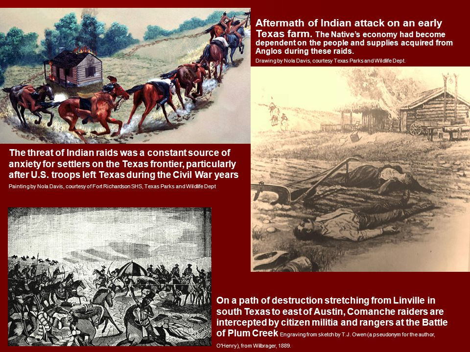 Aftermath of Indian attack on an early Texas farm