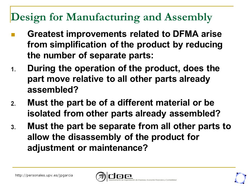 Design For Manufacturing And Assembly : Introduction life cycle product design phases qfd and