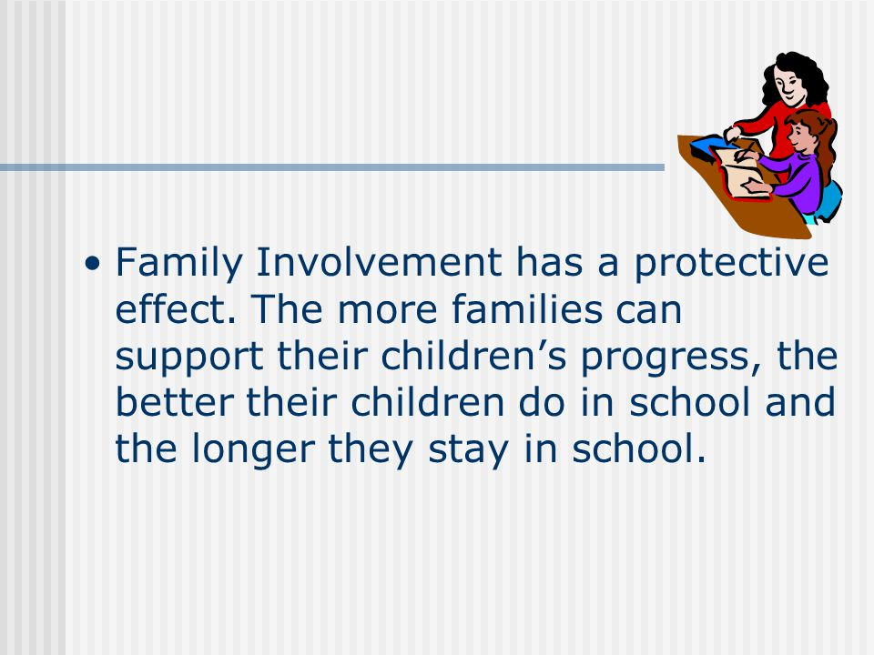 Family Involvement has a protective effect