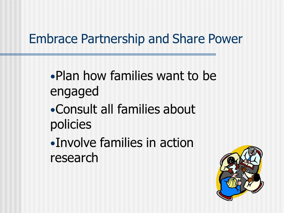 Embrace Partnership and Share Power