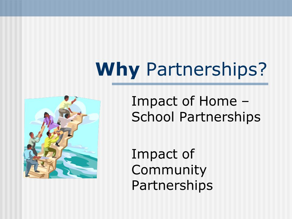 Impact of Home – School Partnerships Impact of Community Partnerships