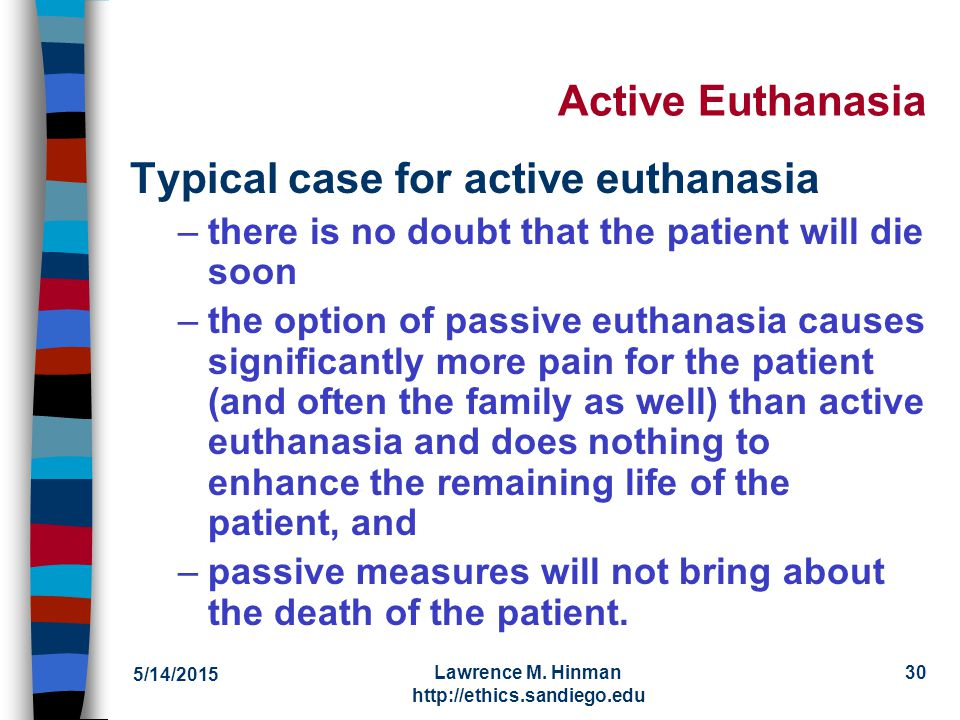 a review of a case of active euthanasia Minors and euthanasia: a systematic review of argument-based concluded that the case-by-case approach was the best (euthanasia or active euthanasia) and.