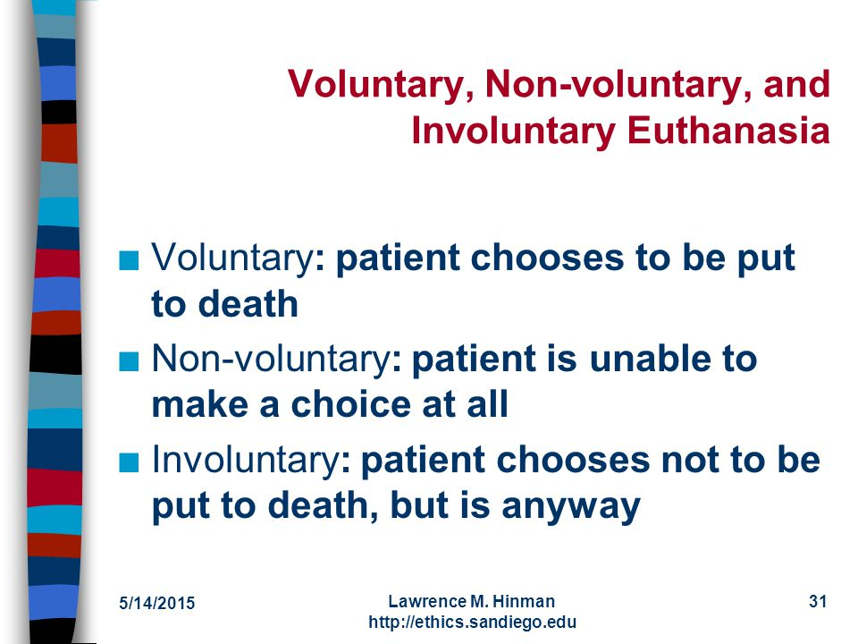active voluntary and nonvoluntary euthanasia essay