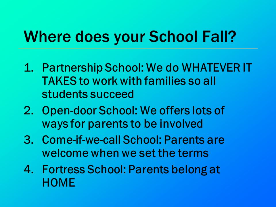 Where does your School Fall