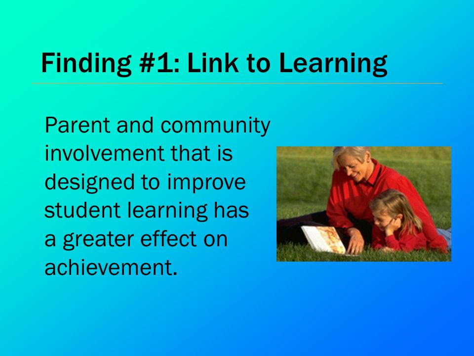 Finding #1: Link to Learning