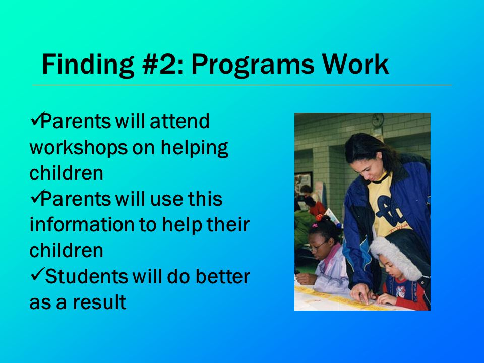 Finding #2: Programs Work