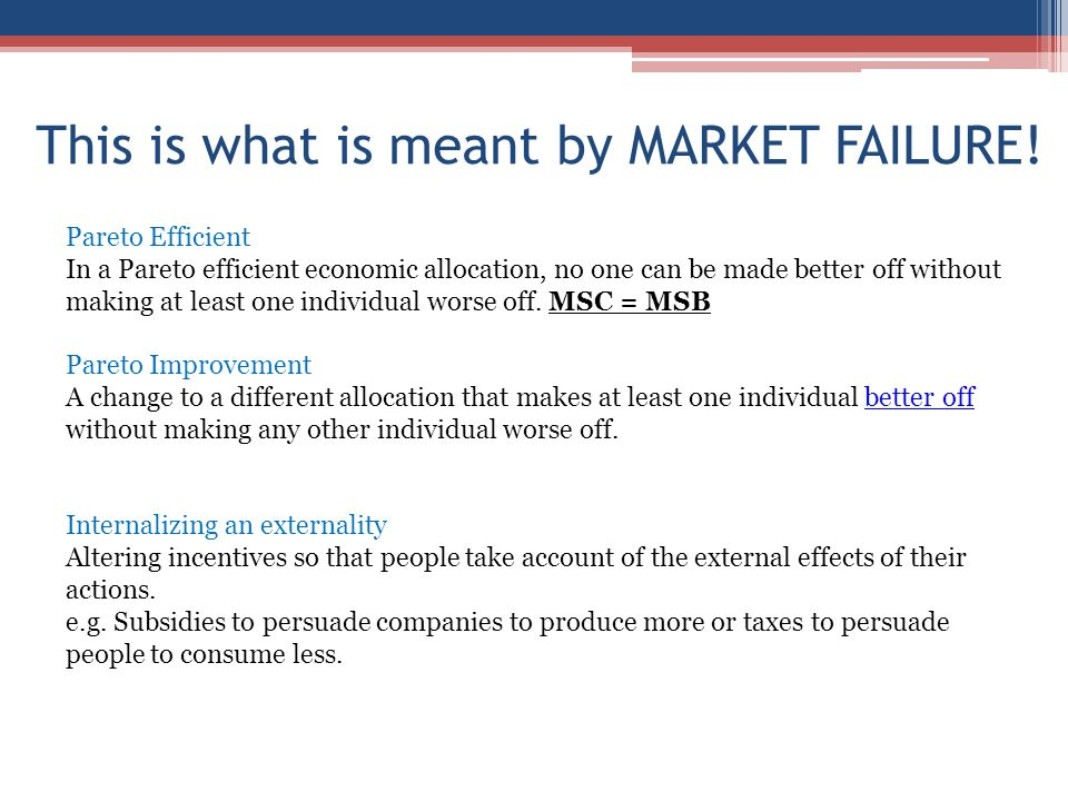 market failure and the effects of the tobacco industry Microeconomics quiz 8 (ch 10) study play the term market failure refers to: a a market that fails to allocate resources efficiently this graph represents the tobacco industry without any government intervention, the equilibrium price and quantity are.