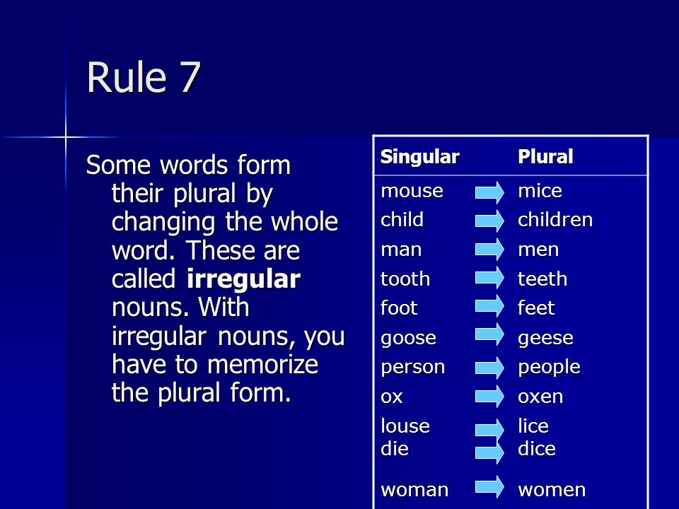 your plural form