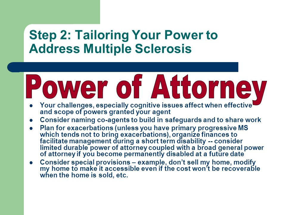 Step 2: Tailoring Your Power to Address Multiple Sclerosis