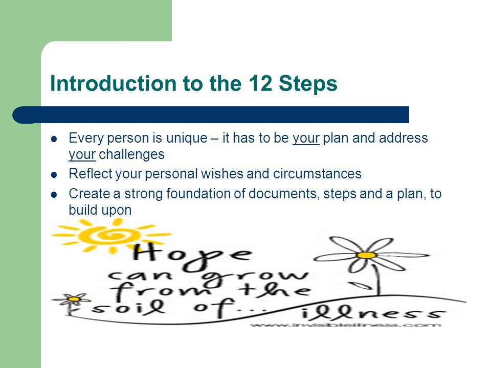 Introduction to the 12 Steps