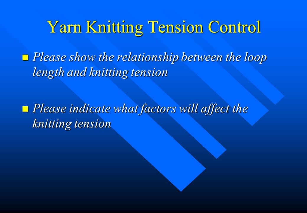 Knitting Loop Length Calculation : Qc in knitted production part process control ppt