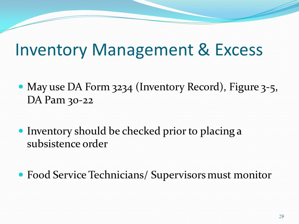 Inventory Management & Excess