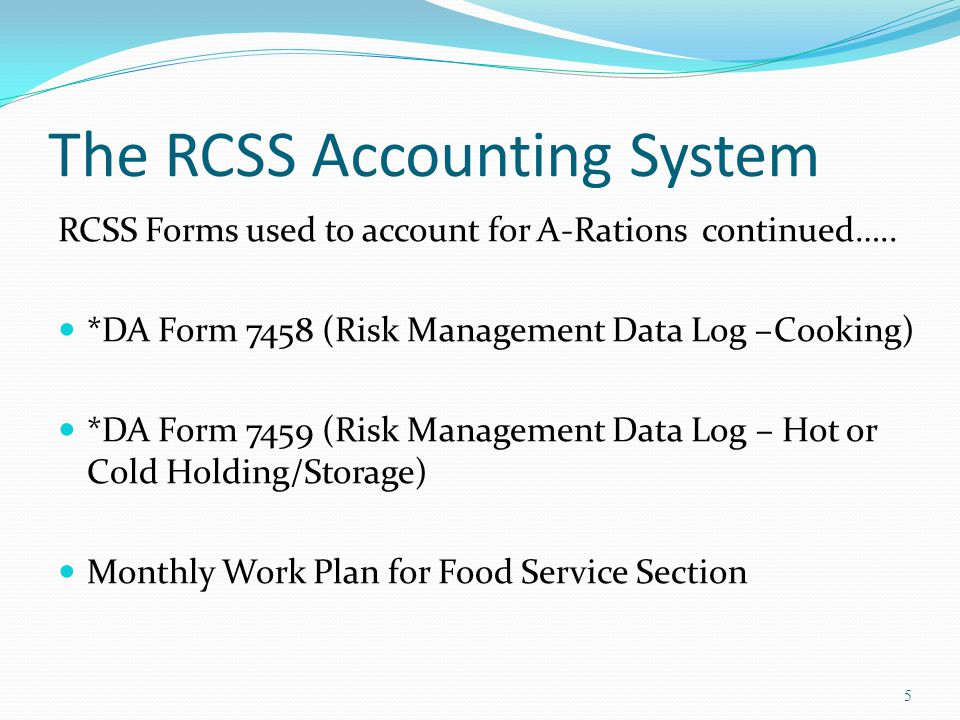 The RCSS Accounting System