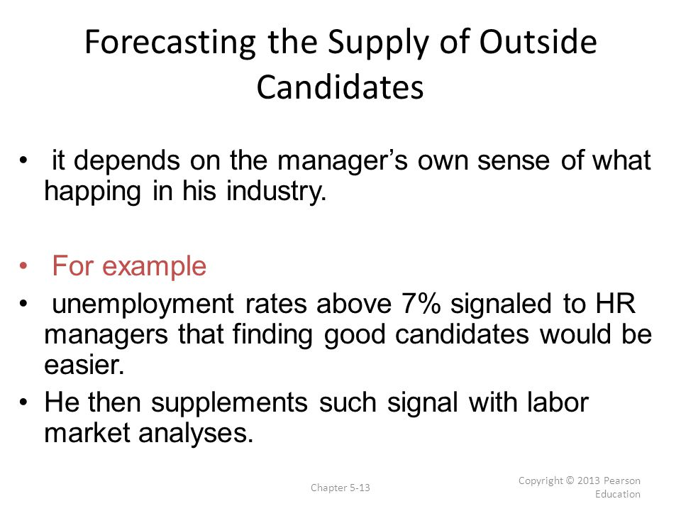Forecasting the Supply of Outside Candidates