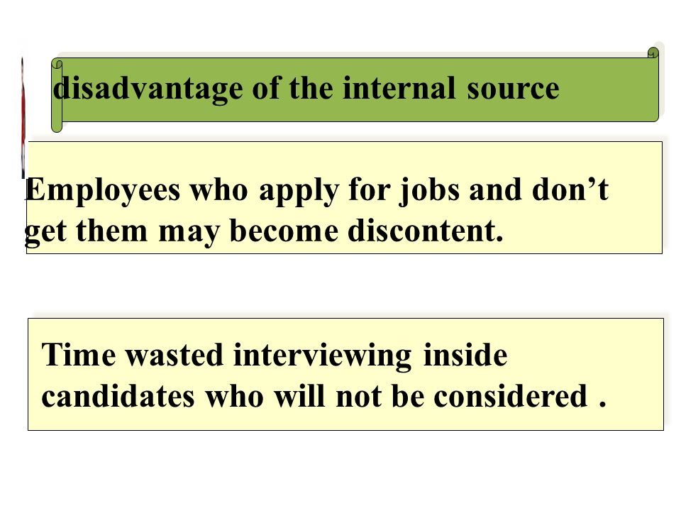 disadvantage of the internal source