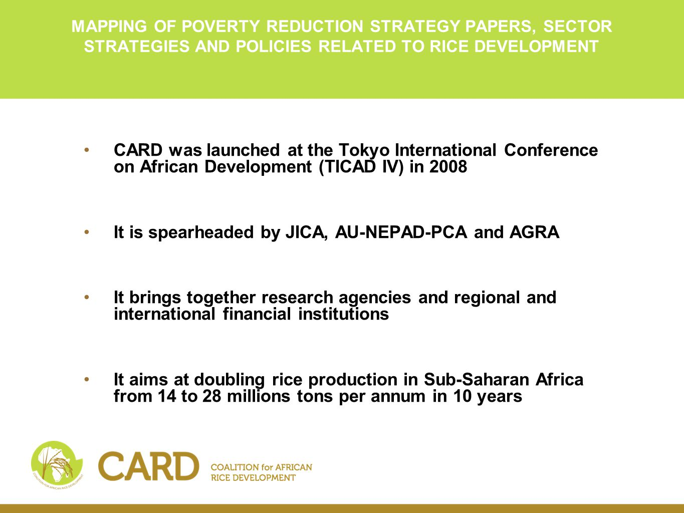 The new Partnership for Africa's Development. Challenges and Prospects