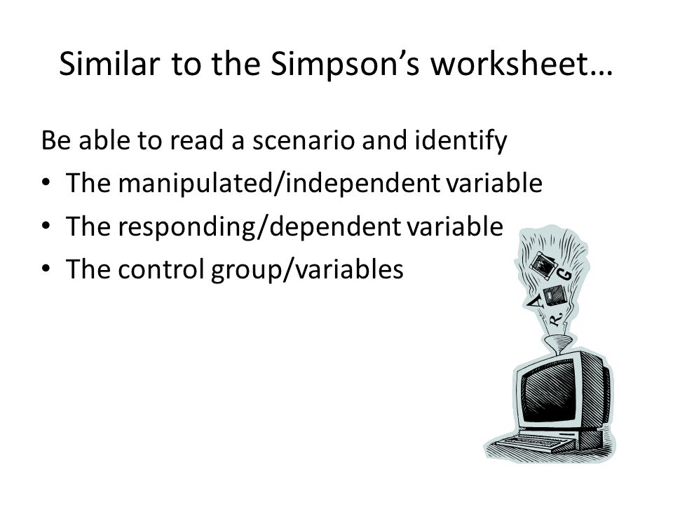 Similar to the Simpson's worksheet…